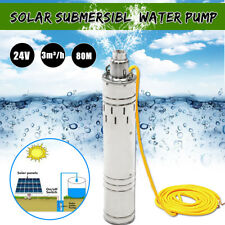 24V 684W 80M 3m³/H Head Brushless Steel Deep Well Solar Submersible Water Pump