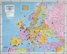 School's European Traveller Map (Laminated) For Schools