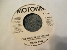 Diana Ross One Love In My Lifetime 45 PROMO Motown M1398F VG+