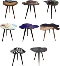 Coffee Side Table Wood Irregular Shape Free Form Inbox