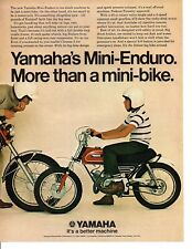 1971 YAMAHA MINI-ENDURO MOTORCYCLE ~ ORIGINAL PRINT AD