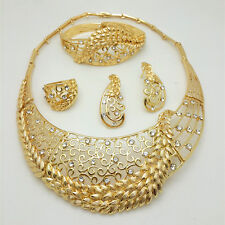 Bold Big Beautiful Gold Plated earring Necklace Party Set UK Delivery Gift