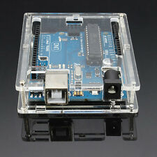 Enclosure Computer Box For Arduino UNO R3 Transparent Acrylic Case Cover Shell