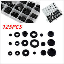 125x Rubber Grommet Assortment Set Firewall Hole Plug Electrical Wire Gasket Kit