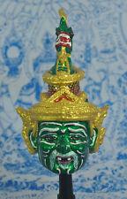 Lersi Hermit Naga Por kae Thai Art Handmade Khon Mask Ritual Sak yant Amulet