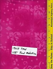 "1305 TMW 108"" EXTRA WIDE QUILT BACKING BTY: TONAL MEDALLION, FUCHSIA, HOT PINK"