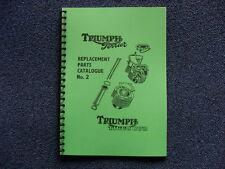TRIUMPH TERRIER AND TIGER CUB PARTS BOOK  NO2 FOR 1954 MODELS