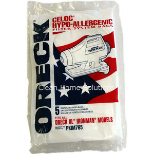 Genuine Oreck XL Ironman Vacuum Bags No. PKIM765 Package of 5