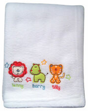 Safari Friends Fleece Buggy Blanket - Warm, Soft and Safe Material - 70 x 90cm