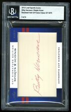 2012 Leaf Sports Icons Authentic DUAL Cut Auto BILLY HERMAN / RALPH KINER #3/4