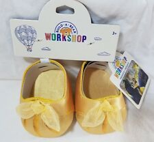 BUILD A BEAR Beauty & the Beast by Disney Belle Shoes Dance Heels Gold Princess