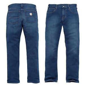 Carhartt Herren Hose Rugged Flex Relaxed Straight Jeans Pant // W30 bis W42 NEU