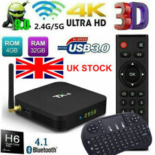 TX6 Keypad Quad Core 4GB+32GB Android TV Box Dual Band 5Ghz WIFI HD Media Player