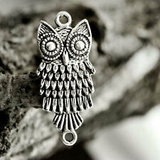 25pcs Antique Silver Animal Links Connectors Owl DIY Jewelry Findings 28.5x13mm