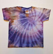 1-2y Baby Kid Tie Dye T-shirt Top Festival Beach Hippie Gift Present Purple Grey