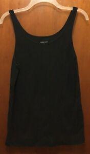 Woman EILEEN FISHER black Organic Cotton Sleeveless Tank Top Shirt Sz XL EUC