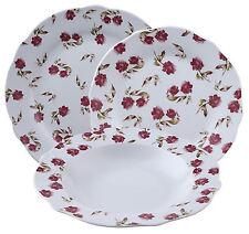 Brunchfield BF-8063 Abbey 18 Piece Dinner Set Porcelain Side Plates Bowls Floral