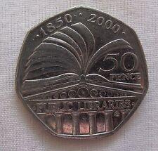 Palla DA GOLF VERDE MARCATORE ANNO 2000 50P Coin-Librerie 150th ANNIVERSARIO (D3987)