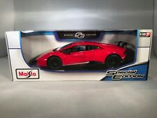Lamborghini Huracan Performante 1:18 Diecast Model Car Rare Brand New In Red