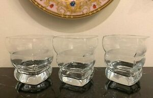 Rogaska Adria Double Old Fashioned Glasses Set of 3