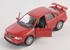 BLITZ VERSAND Audi A4 / A 4  rot / red 1:34 ca.12cm Welly Modell Auto NEU & OVP