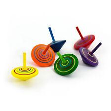 Kreisel aus Holz - 6 Stück mit farbenfroher Bemalung - Spiel Spaß & Lernen