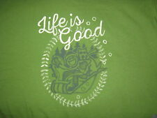 LIFE IS GOOD WOMEN'S  L/S JAKE AND ROCKET  SLED T- SHIRT SIZE XXL