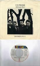 U2  Pride  rare early promo 45 with PicSleeve