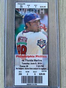 2010 Florida Marlins @ Phillies Ticket Stub 6/8 Giancarlo Stanton Debut MLB Game