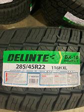 1 New 285 45 22 Delinte DX-10 Bandit A/T Tire