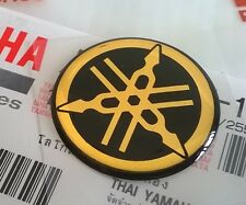YAMAHA 100% GENUINE 25mm TUNING FORK BLACK/GOLD DECAL EMBLEM STICKER BADGE