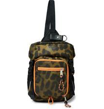 NWT $1190 BURBERRY Animal-Print Nylon Cross-Body Backpack 8013530 A39 Green