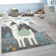 Kinderteppich, Teppich Kinderzimmer Lama Berge Kinder-Motiv, Grau Türkis Gelb
