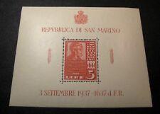 Souvenir Sheets San Marino  Stamps Scott# 187 Abraham Lincoln 1938 MNH  C452