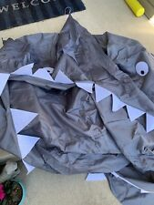 Shark Canopy Over Twin Bed or Play Area - Gray