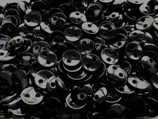 18mm 28L Black 2 Hole Polished Buttons Craft Coat Jacket Children Sewing (W169A)
