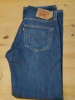 Mens Vintage LEVI'S 501 Button Fly Regular Fit Blue Jeans W32 L32