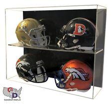 4 Mini Helmet DISPLAY CASE ACRYLIC WALL MOUNT FOOTBALL UV HOLDER GameDay Display