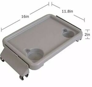 Mobility DMI Folding tray with Two Cup Holders !Tool Free Setup!