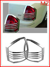 For 05-07Chrysler 300C Chrome Tail light Trims Covers Rear Trunk
