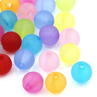 "Dia. 3//8/"" HX 200PCs Acrylic Spacer Beads Frosted Round Ball Mixed 10mm"