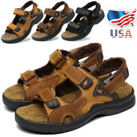 Mens Sandals Adjust Strap Open Toe Casual Sport Fisherman Beach Hiking Shoes USA