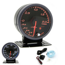 60mm LED Auto Ladedruckanzeiger -1-2 Bar Turbo Boost Display Universal 12V Neu
