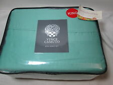 4 pieces  Vince Camuto Jade King Sheet Set ~ Jade Green NEW