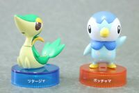 "Pokemon Bottle Cap Piplup Snivy Figur 2PCS  Authentic 2"" Nintendo Japan"