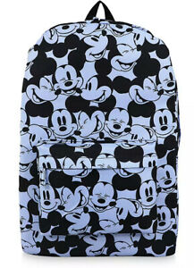 Disney EXCLUSIVE  Mickey Mouse Expressions Backpack - Blue/Black NWT