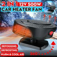 12V 500W Car Heater Dryer Plugin 2 In 1 Heater Cooler Fan Portable Demister