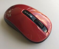 Red Mini Cute Wireless Silent Mouse With USB Nano Receiver For PC Laptop