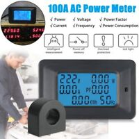 100A Digital Watt KWH Current Power Energy Meter Ammeter Voltmeter AC 110V-250V