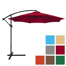 Best Choice Products 10ft Offset Hanging Outdoor Market Patio Umbrella w/ Easy T